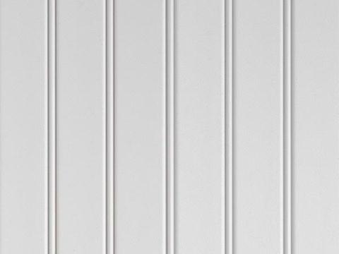 White beaded solid vinyl soffit