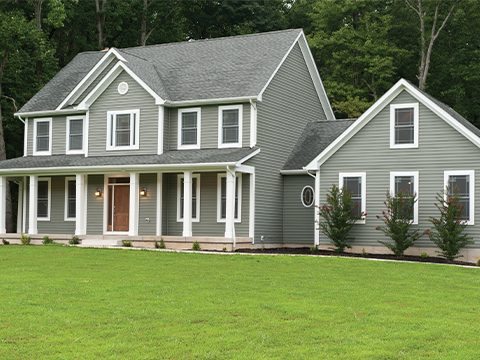 House with traditional lap siding